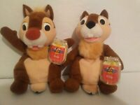 LOT OF 2 NEW DISNEY STAR BEANS CHIP & DALE PLUSH TOYS MICKEY SERIES 1999 NOS