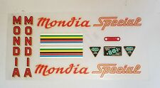Sticker Decal Set for Vintage Mondia Special Bicycle 10 piece set