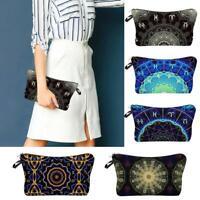 Fashion Women's Makeup Clutch Bags Waterproof 3D Mandala Printing Cosmetic Gift