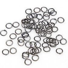 4/5/6/7/8/9/10/12mm Open Jump Rings Connectors Beads For Jewelry DIY 100-500pcs