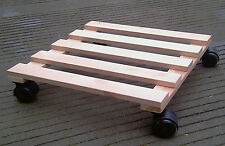 2 x FURNITURE/ APPLIANCE/ PLANTER MOVER IN HARDWOOD/SPECIAL PRICE TO CLEAR