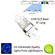 "Replacement UV Bulb for Tetra (TetraTec) 11W 9"" Long - G23 2-Pin Ultraviolet"