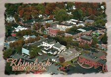 Rhinebeck, New York, Route 9 and Market Street, America's Oldest Inn -- Postcard