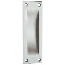 Matter Schiebetürgriff Türen Beschlag Nickel Einlass Griffmulde zeitlos elegant