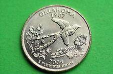 2008-P BU Mint State ( OKLAHOMA)  Statehood  US Quarter