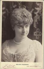 PORTRAIT OF BEAUTIFUL ACTRESS HELEN STANDISH (CABINET CARD BY B J FALK)