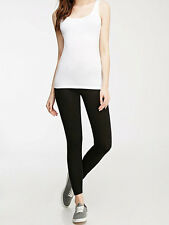 30% OFF!AUTH FOREVER 21 CLASSIC COTTON BLACK LEGGINGS LARGE BNWT US$6.90