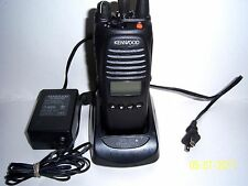 USED KENWOOD TK 5410d K-2, V-4, RADIO with CHARGER & SPEAKER MIKE