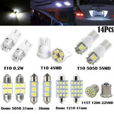 14Pcs LED Bulbs Interior Package Kit T10 36mm Map Dome License Plate Light White
