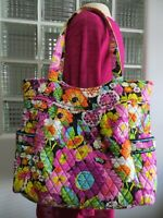 Vera Bradley Va Va Bloom Pleated Large Tote Very Versatile Tote Shopping School