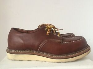 Redwing shoes moc toe classic Oxford brown uk 6.5 worn once