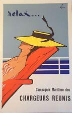 "Rene Gruau ""Relax""  original vintage advertising poster"