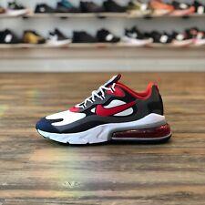 Nike Air Max 270 React Gr.46 Negro Blanco Rojo CI3866 002 Zapatillas Deportivas
