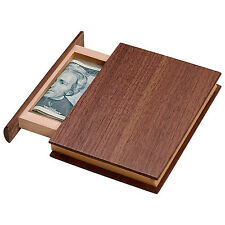 Brainteaser Puzzle Book Box Wooden Secret Drawer Unique Brain Game for Adults
