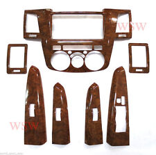 FOR TOYOTA Hilux SR5 Wood Grain Wooded Dash Board Trim 4 Doors Vigo Mk6 05 -10