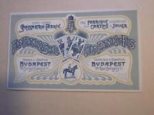 1880.publicité cdv Piatnik à Budapest.cartes à jouer.