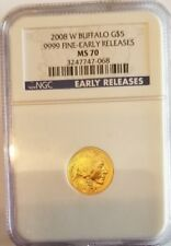 2008w ngc $5.00 gold buffalo ms70 Early Releases