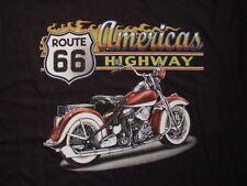 Biker Route 66 vintage Motorcycle Highway t-shirt S M L XL XXL Nuevo