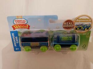 Thomas The Tank Engine & Friends WOOD AQUARIUM CARS TRUCKS WOODEN TRAIN NEW BOX