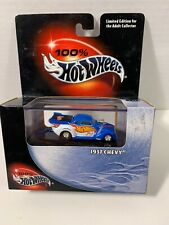 100% HOT WHEELS 1937 CHEVY Race Car*BLUE and WHITE