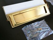 Placca Bucalettere Posta Apertura Sportellino Oscillante in Ottone colore oro