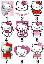 Hello Kitty Small Or Large Sticky White Paper Stickers Labels New