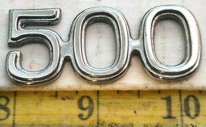 FORD GALAXIE 500 METAL CHROME EMBLEM D0AB 62291 C00 - A (2338)