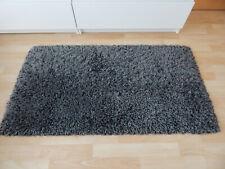 Teppich Glamour Shaggy Grau-Schwarz