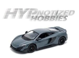 WELLY 1:24 MCLAREN 675LT COUPE DIE-CAST GRAY 24089 N/B