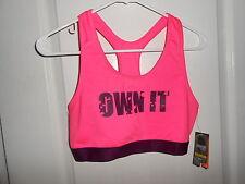 New Danskin Now Bright Pink & Purple Plum Core Sports Bra *OWN IT* Medium 8/10