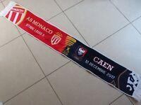 Echarpe scarf SM CAEN asm AS MONACO FC signed FALCAO CARRILLO coupe ligue foot