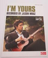 JASON MRAZ signed IM YOURS MUSIC SHEET PARTITION