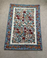 Hand Embroidered Kashmiri floral design rug