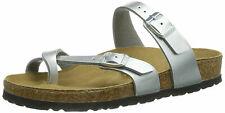 Birkenstock Women's Mayari Birko-Flor Sandals Silver Size EU 38/US 7 Regular
