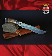 Damascus hunting knife, 072B Special Edition KingForge, knives bush gift bone