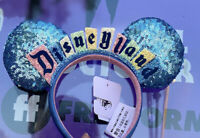 New!!!Disneyland Sign Logo Marquee Happiest Place On Earth Ear Headband