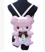 Fashion Teddy Bear Stylish Backpack Kawaii Stuffed Bear Doll Women Lady Bag Gift