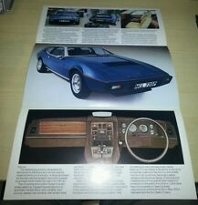 Lotus Elite Brochure Very Good Condition FREE POSTAGE Series 501 502 503 504
