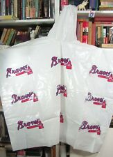 2 Great Old Plastic Unused ATLANTA BRAVES RAIN PONCHOS, Size 38L x 50W, w/ Hood