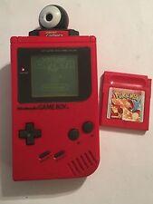 Rouge DMG-01 Nintendo Gameboy GB Console + Pokemon red version game & caméra