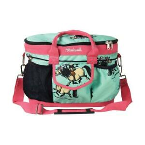 HY Thelwell  Pink And Teal Print Grooming Bag