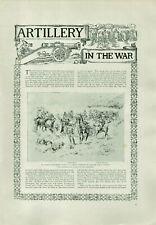 Antique Illustrated Print Lieutenant Roberts Death Colenso & Kroon Spruit 1900