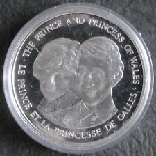 1983 SILVER Canada Prince & Princess of Wales Medallion Medal Canadian
