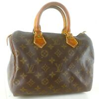LOUIS VUITTON SPEEDY 25 Hand Bag Doctor Purse Monogram M41528 Brown
