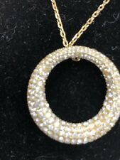 Michael Kors Crystal and Gold Round Pendant - NWT - Retail $145.00