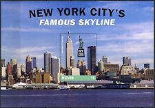Nevis 2016 New York City'S Iconic Sites & Scenes Sheet Mint Nh