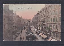 AK Wien 1 Graben sehr schön Coloriert gelaufen 1910 nach Lille in Frankreich