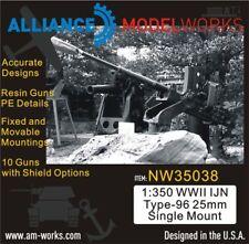 Alliance Model Works 1:350 WWII IJN Type-96 25mm Single Mount (10) #NW35038