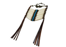 Handmade White 10 Row Buffalo Bone Hairpipe Beads Tribal Breastplate Necklace
