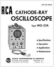 RCA WO-33A Cathode-Ray Oscilloscope Manual